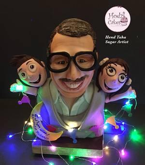 """Foad Al Mohandes""-Ramadan Egyptian Cakers Collaboration  - Cake by Hend Taha-HODZI CAKES"