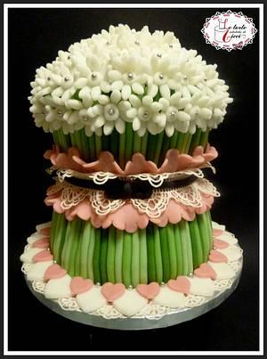 "flowers cake - Cake by ""Le torte artistiche di Cicci"""