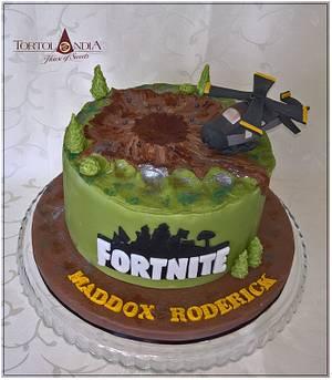 "Fortnite ""Dusty Divot"" - Cake by Tortolandia"