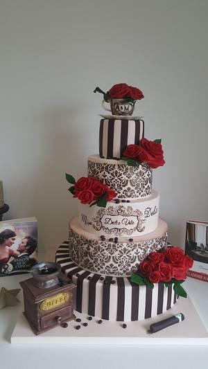 Wedding coffee inspiration cake. - Cake by Torturi Mary