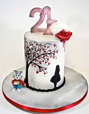 Vintage Alice In Wonderland - Cake by Ellie @ Ellie's Elegant Cakery