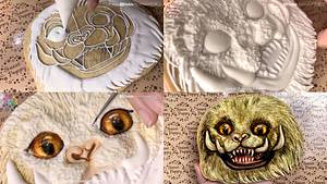Drawing Zouwu On Cookies EP.69 - Cake by SweetPoppyArt