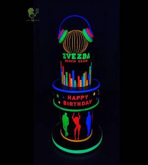 Neon cake - Cake by Antonia Lazarova