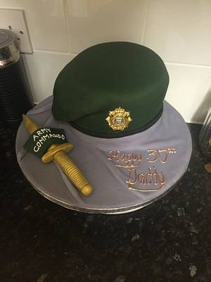 Army Commando Beret cake - Cake by Melissa's cake creations