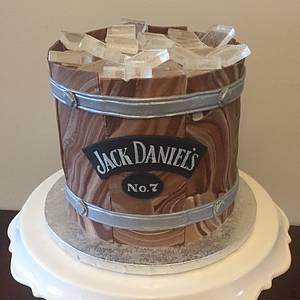 Jack Daniels Whiskey Barrel Cake - Cake by RainCityCakes
