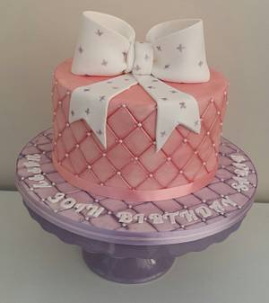 First quilted cake xx - Cake by My Darlin Cakes