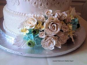 The Sugar Nursery's Summertime Wedding cake - Cake by The Sugar Nursery - Cake Shop & Imaginarium