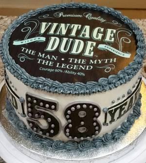 "Popular ""Vintage Dude"" themed birthday cake - Cake by eiciedoesitcakes"