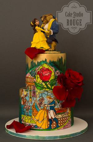 Beauty and the beast cake - Cake by Ceca79