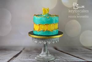 Orange Fault-Line Cake - Cake by Nicola Keysselitz