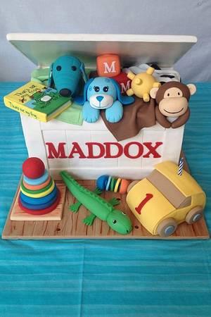1st Birthday Toy Box Cake - Cake by Dakota's Custom Confections