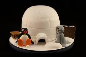 Pingu Igloo cake - Cake by Kathryn
