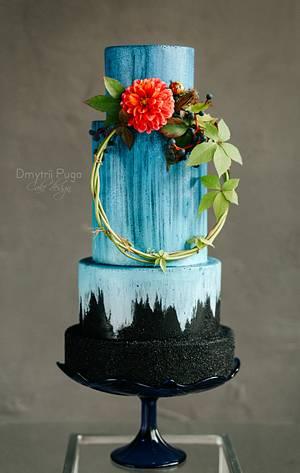 Blue glow wedding cake - Cake by Dmytrii Puga