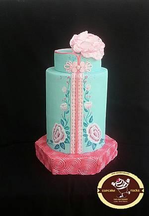 Chinese New Year Cake Collaboration- Cheongsam / Qibao - Cake by Astried