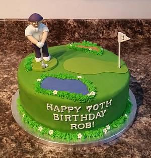 Golfer Birthday Cake - Cake by Sugar Chic