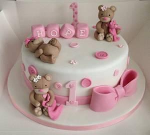 Happy 1st birthday - Cake by Debi at Daisy's Delights