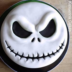 Jack Skellington cake - Cake by Kasserina Cakes