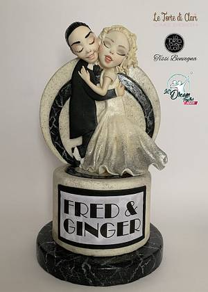 Let's Dream Together Again - Fred e Ginger - Cake by Tissì Benvegna