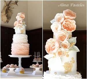 Ruffles & Bloom - Cake by Alma Pasteles