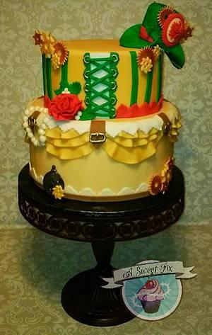 Christmas Steampunk Wedding - Cake by Heather Nicole Chitty