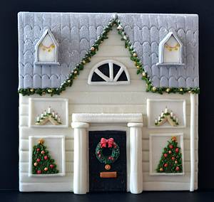 A house in Frostington - Cake by Daisy cakes by Sarah
