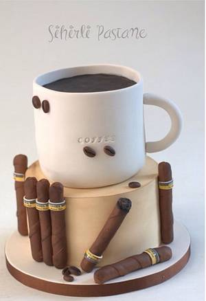Coffee and Cigar Cake  - Cake by Sihirli Pastane