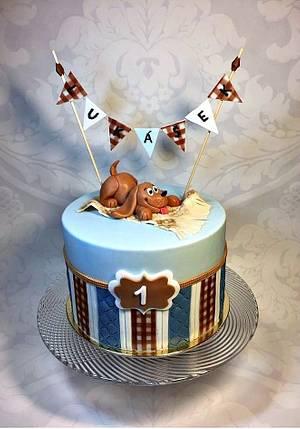 For baby boy - Cake by Frufi