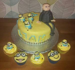 Despicable me birthday cake  - Cake by Truly Scrumptious Cakes by Christine