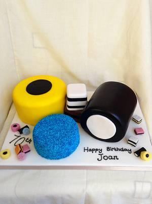 Allsorts of fun!  - Cake by Tiggylou's cakes