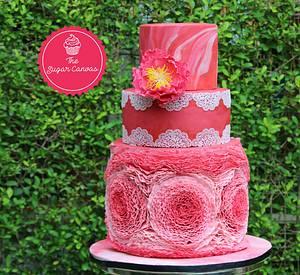 Romantic ruffles - Cake by TheSugarCanvas