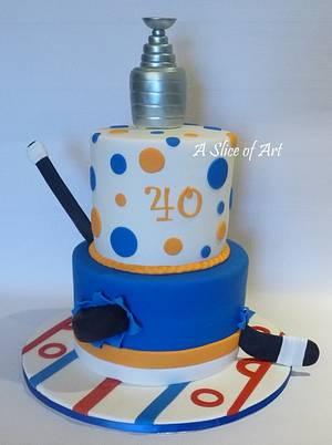 hockey cake - Cake by A Slice of Art