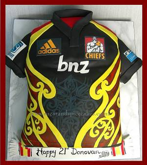 Chiefs Rugby Jersey Cake - Cake by Mel_SugarandSpiceCakes