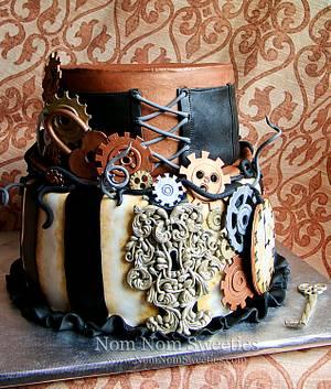 Steampunk Wedding Cake - Cake by Nom Nom Sweeties
