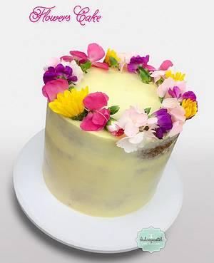 Torta de Flores Medellín - Cake by Dulcepastel.com