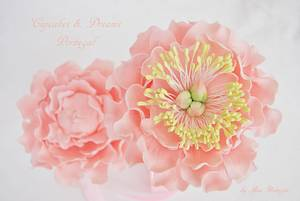 MY FIRST PEONIES - Cake by Ana Remígio - CUPCAKES & DREAMS Portugal