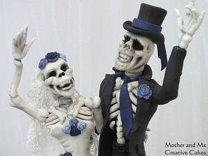 Til Death Do Us Part Wedding Cake - Cake by Mother and Me Creative Cakes