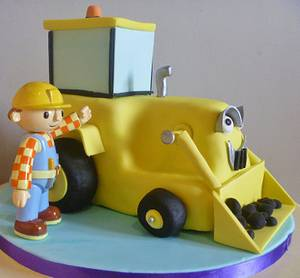Scoop and Bob the Builder - Cake by Sally O'Rourke