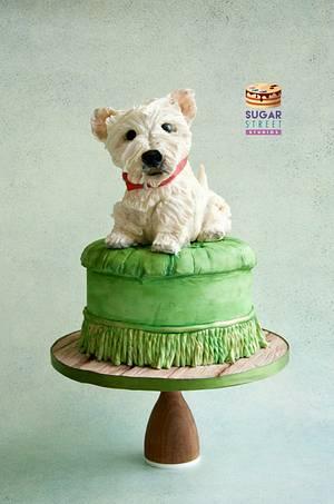 Pooch on a Pouffe! - Cake by Sugar Street Studios by Zoe Burmester