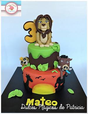 LION KING CAKE  - Cake by Dulces Mágicos de Patricia