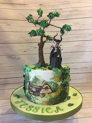 Malefica - Cake by Dulcepensamiento
