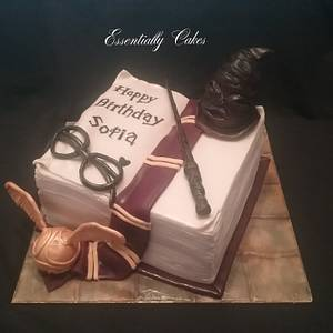 Harry Potter book of spells - Cake by Essentially Cakes