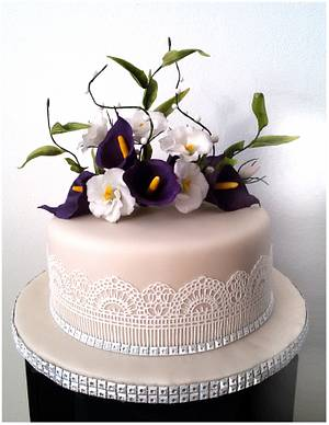 Floral wedding cake - Cake by Eva