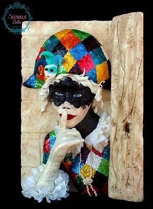 Venetian Carnival Collaboration - Cake by Estrele Cakes