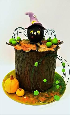 Beware of green spiders ❣ - Cake by Clara