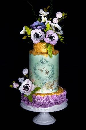 A Floral Wedding Cake - Cake by Veronica Seta