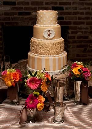Kami's Wedding Cake! - Cake by Peggy Does Cake