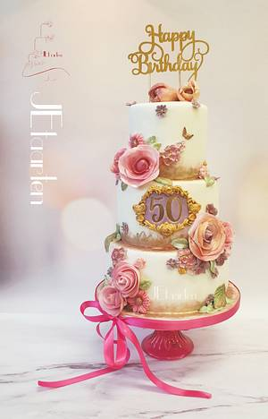Surprisebirthday 50 years birthday cake - Cake by Judith-JEtaarten