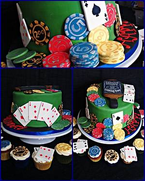 Old School Poker Night! - Cake by Princess of Persia