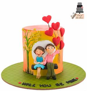 Will u b mine..!!! - Cake by Out of the Box