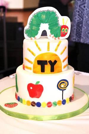 Very Hungry Caterpillar - Cake by SweetAsSugar